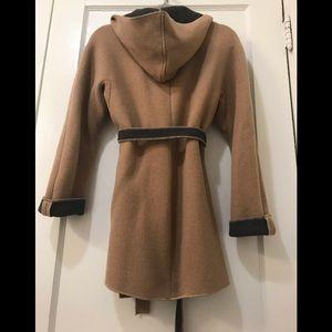 Gap Wool hooded wrap jacket